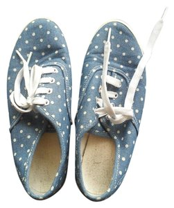 GU Denim Dot Sneaker Blue with White Polka Dots Athletic