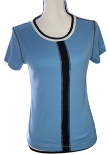 Oleg Cassini Knit Top Blue