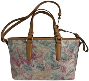 Brahmin Satchel in creme/Multi