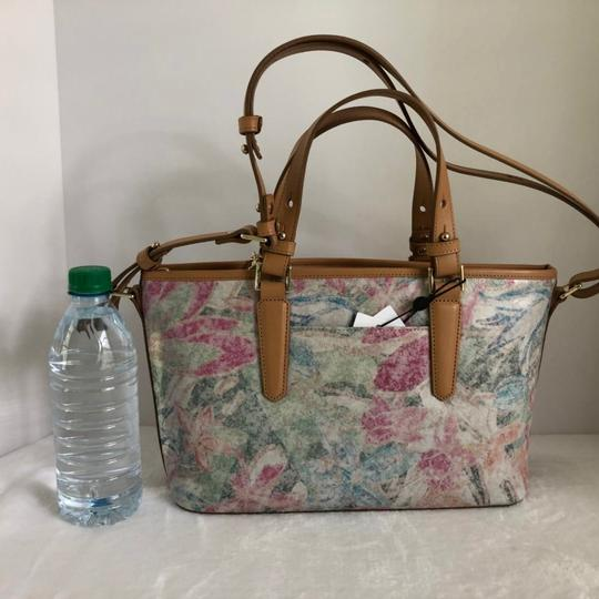 Brahmin Satchel in creme/Multi Image 2