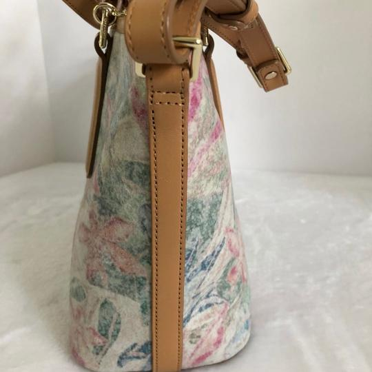 Brahmin Satchel in creme/Multi Image 3