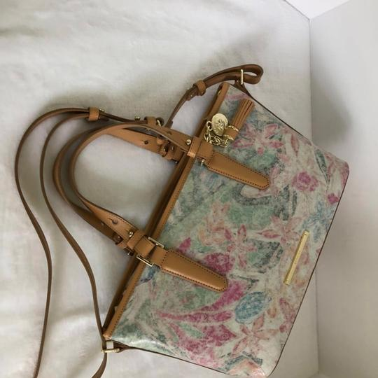 Brahmin Satchel in creme/Multi Image 7