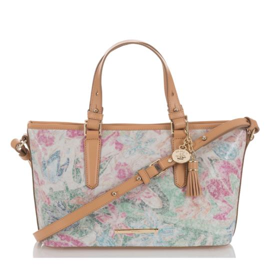 Brahmin Satchel in creme/Multi Image 9