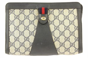 Gucci Vintage Good Accessory Collection Blue Clutch