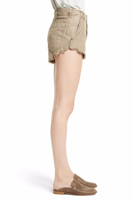 Free People Cotton Cut Off Shorts Beige Image 1