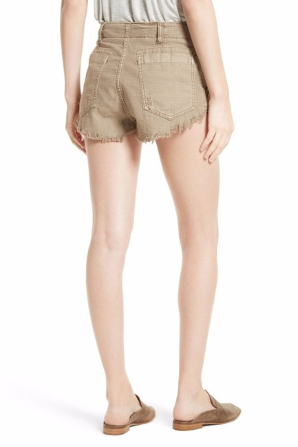 Free People Cotton Cut Off Shorts Beige Image 2