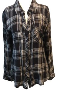 Rails Button Down Shirt Black