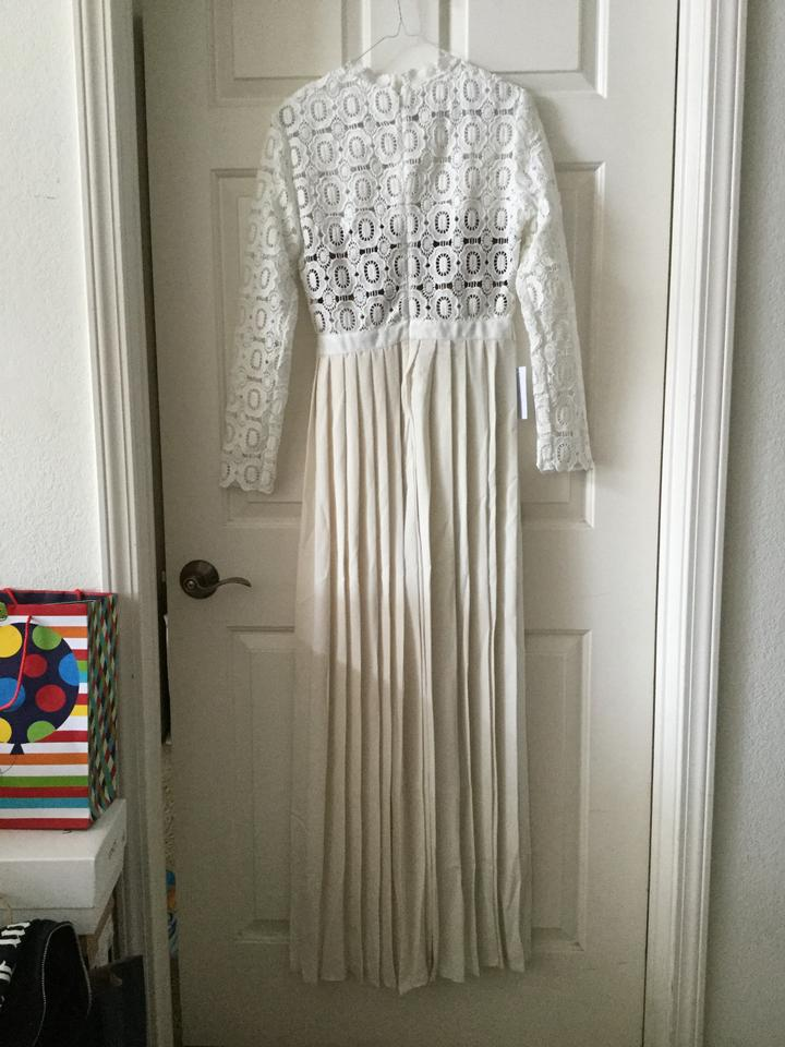 033a57c07ffd White Maxi Dress by self-portrait Maxi Formal Crochet Floral Gown Image 10.  1234567891011