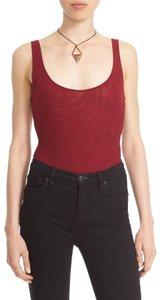 Free People Scoop-neck Bodysuit Body Top Wine