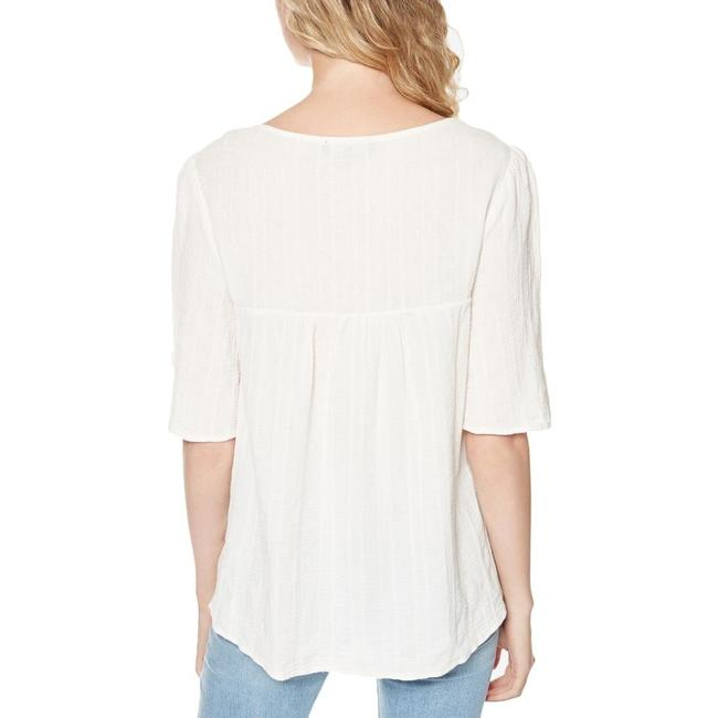 Sanctuary Zambia Embroidered Short Sleeves Top Ivory Image 1
