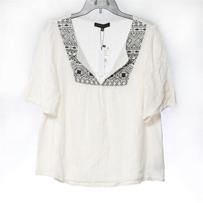 Sanctuary Zambia Embroidered Short Sleeves Top Ivory Image 2
