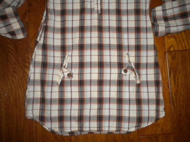 Love Notes Plaid Long Sleeve Button Chest Shirt Tunic Image 3