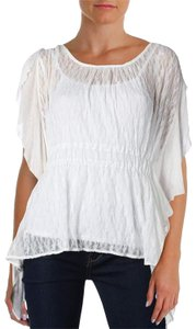 Free People June Sheer Lace Ballet Top White