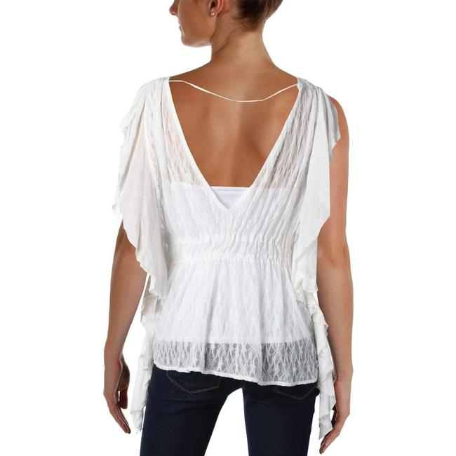 Free People June Sheer Lace Ballet Top White Image 1