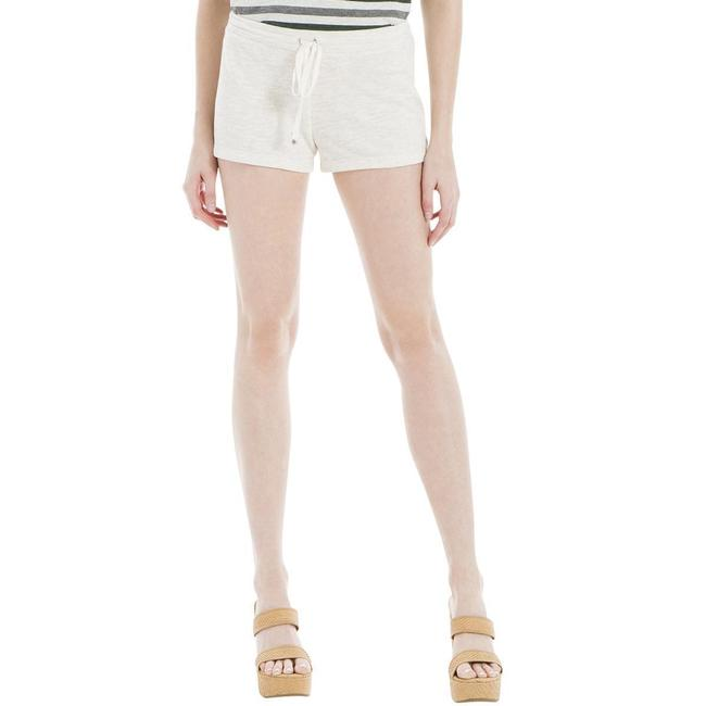 Max Studio Knit Front Beige Cuffed Shorts Cream Image 1