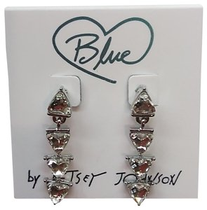 Betsey Johnson Betsey Johnson New Rhinestone Triangular Earrings