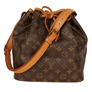 Louis Vuitton Monogram Leather Petit Noe Canvas Noe Tote in Brown 6558