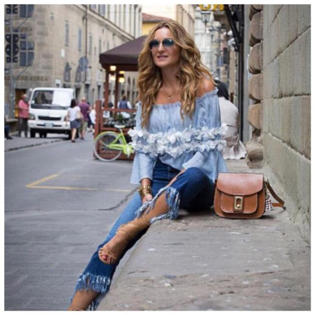Preload https://img-static.tradesy.com/item/24033738/blue-and-white-ruffle-3d-flower-iff-the-shoulder-d20-blouse-size-4-s-0-0-650-650.jpg