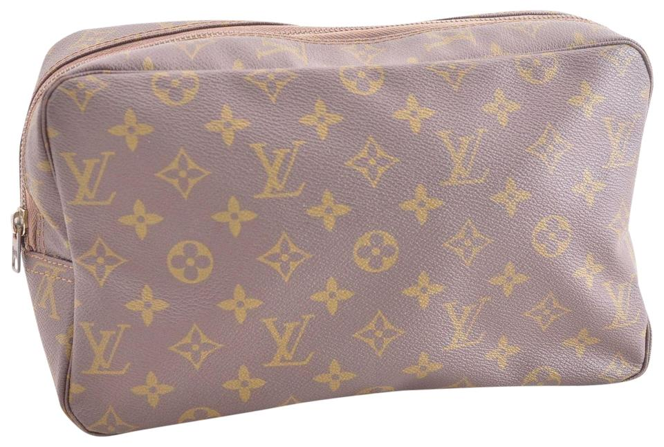 Louis Vuitton Authentic Monogram Trousse Toilette 28 Clutch Bag M47524 pouch  wallet ... c41fa76df6843