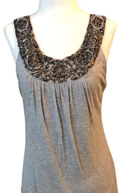 Preload https://img-static.tradesy.com/item/24033803/anthropologie-gray-night-out-top-size-8-m-0-1-650-650.jpg