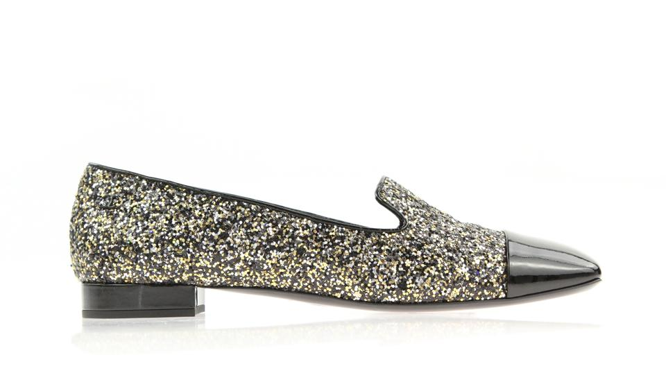 a136caee3bee Chanel Black Glitter Square Toe Loafers Flats Size EU 42 (Approx. US ...