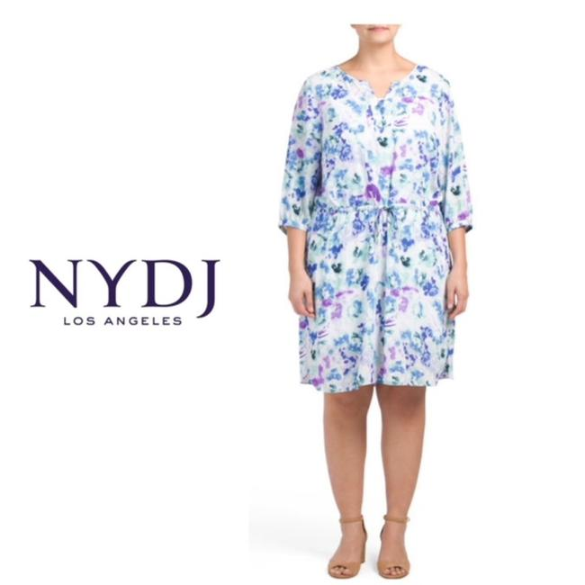 Preload https://img-static.tradesy.com/item/24033878/nydj-blue-purple-green-alexa-floral-printed-mid-length-workoffice-dress-size-22-plus-2x-0-0-650-650.jpg