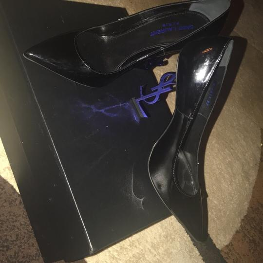 YSL black and the heel is blue Pumps Image 3