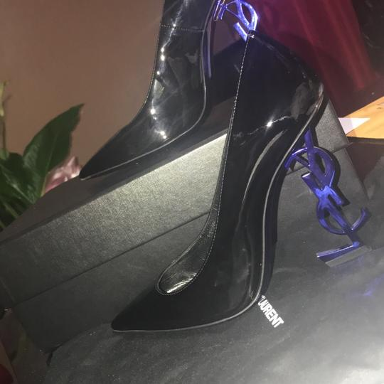 YSL black and the heel is blue Pumps Image 5