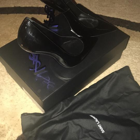YSL black and the heel is blue Pumps Image 6