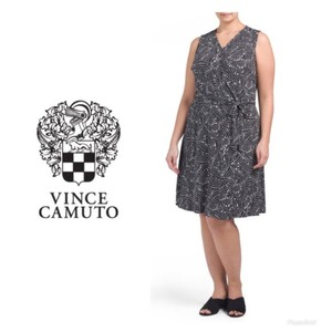 Vince Camuto Wrap Belted Plus-size Print Dress