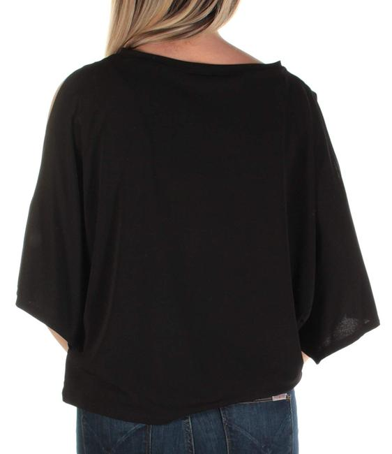 Rachel Roy Out Jewel Neck Short Sleeve Top Black Image 1