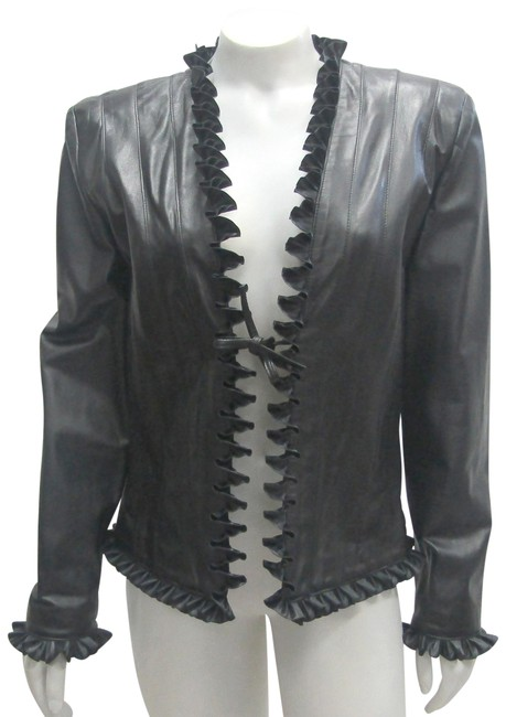 Preload https://img-static.tradesy.com/item/24034068/st-john-black-new-with-tags-dyed-genuine-fall-leather-jacket-size-6-s-0-3-650-650.jpg