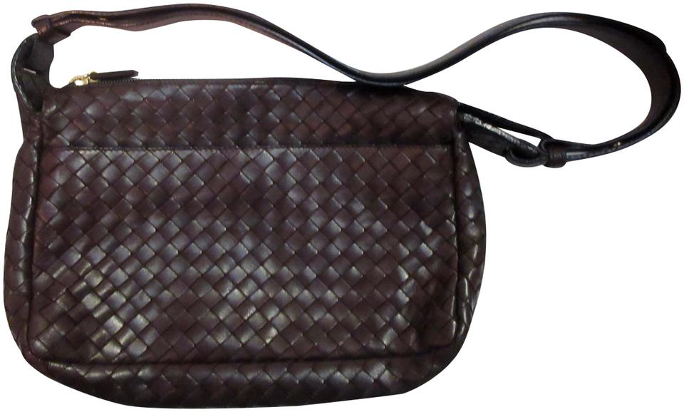 Bottega Veneta Lambskin Leather Intrecciato Vintage 1980s Shoulder Bag ... d5e25b81b34e2
