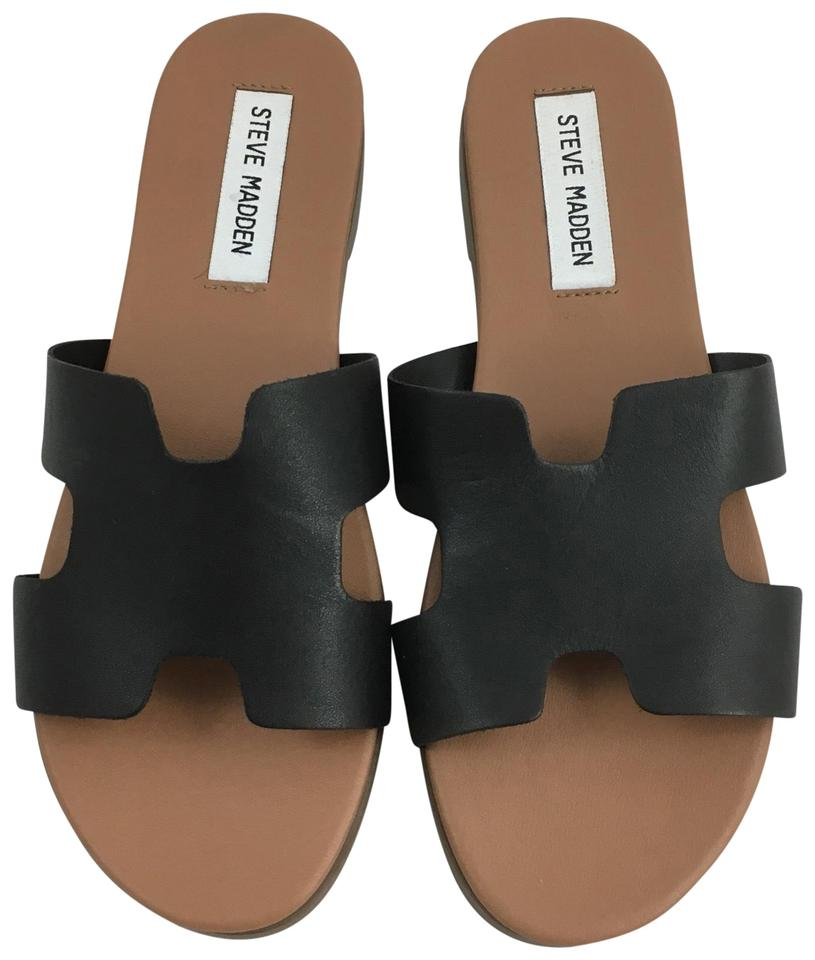 f36bf28449c Steve Madden Black Harriet H Style Slide Sandals. Size  US 7.5 Regular (M  ...