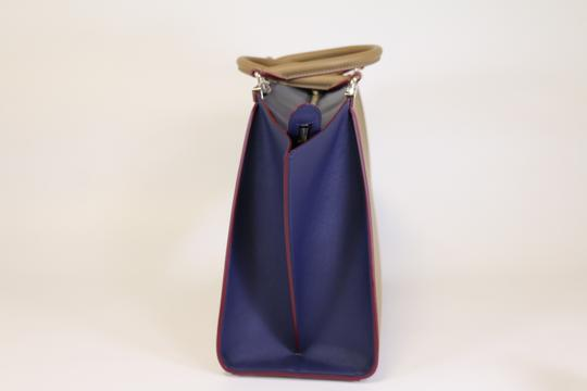 Fendi 3jours 3jours 3jours Tote in Sand/Blueberry Image 2