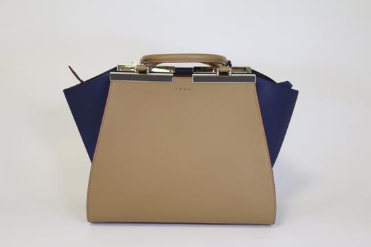 Fendi 3jours 3jours 3jours Tote in Sand/Blueberry Image 4