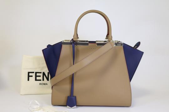 Fendi 3jours 3jours 3jours Tote in Sand/Blueberry Image 5