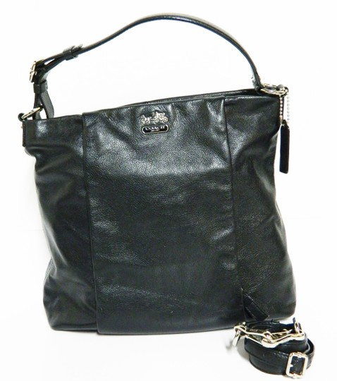 Coach Leather Tote in Black Image 11