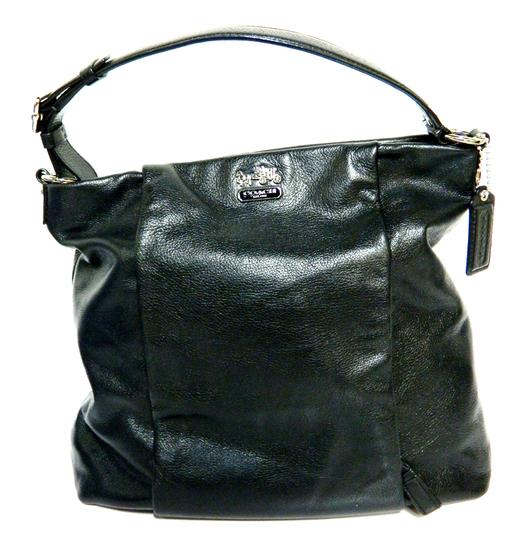 Coach Leather Tote in Black Image 2