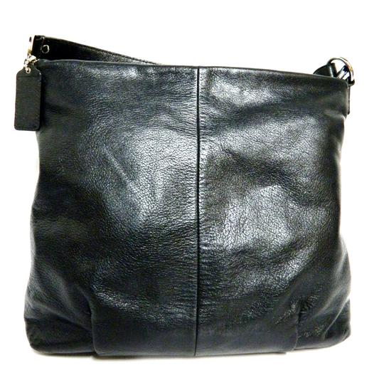 Coach Leather Tote in Black Image 3