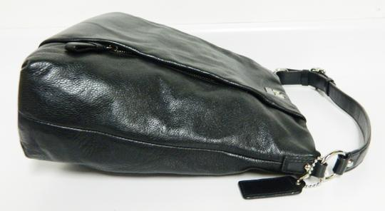 Coach Leather Tote in Black Image 4