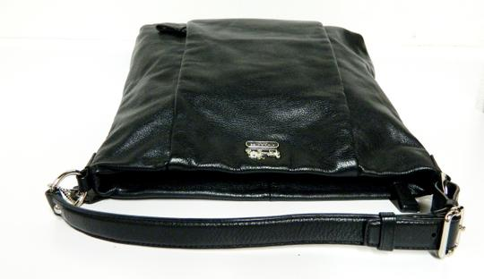 Coach Leather Tote in Black Image 7