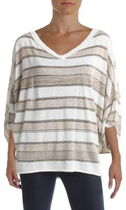 Free People Metallic Striped Sweater