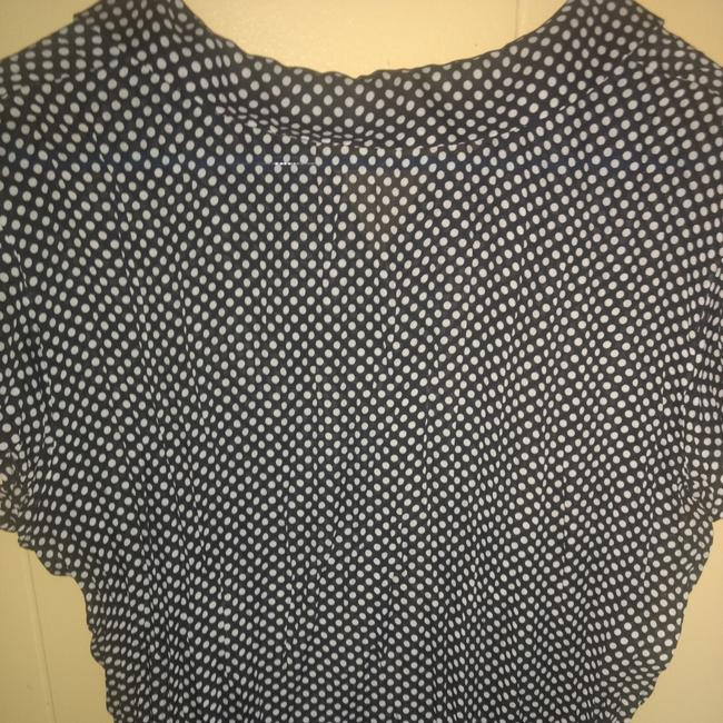 Essentials by Milano Top Blue polkadot Image 2