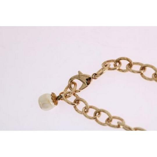 Dolce&Gabbana D1087 Women's Gold Brass Clear Crystal Bow Necklace Image 4