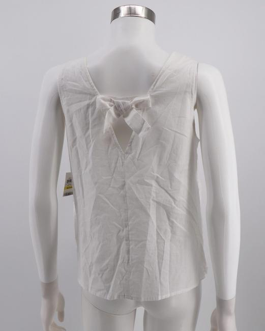 Maison Jules Cotton Embroidered Top White Image 1