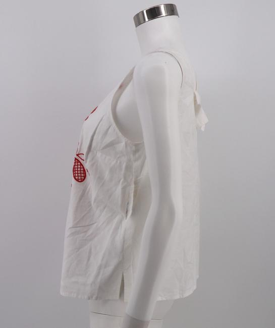 Maison Jules Cotton Embroidered Top White Image 2