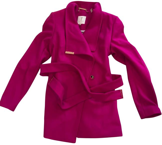 Item - Pink Rytaa Short Belted Wrap Coat Size 2 (XS)