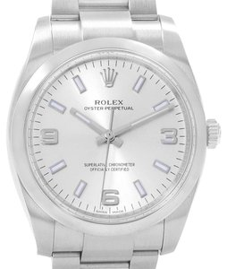 Rolex Rolex Air King 34 Silver Dial Mens Watch 114200 Box Papers