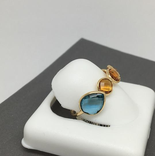 other 18K Yellow Gold Natural Citrine and Topaz Bezel Set Ring Image 1